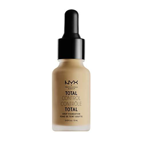 NYX Professional Makeup Fond de Teint Liquide Total Control Drop, Dosage Précis, Couvrance Modulable, Tenue Longue Durée, Finit Mat, Teinte : Buff