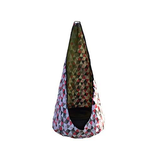 Zhantie Silla de hamaca portátil con almohada inflable y bolsillo lateral para habitación al aire libre, 70 x 140 cm con bomba