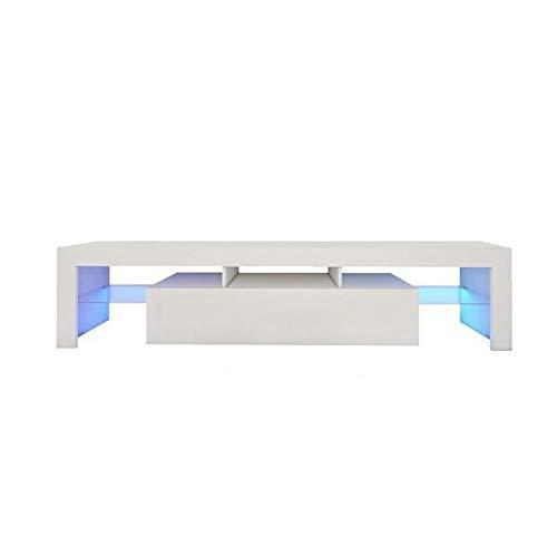 Yi-xir klassiek ontwerp Grote 200cm LED TV standaard kasteenheid Geavanceerde hoogglans deur LED zwak wit Perfect en comfortabel