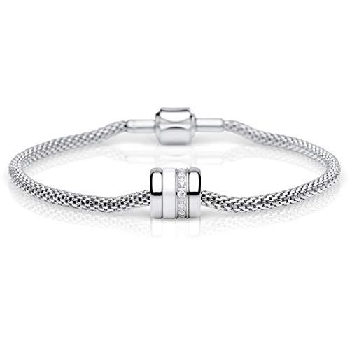 Bering Damen-Armband und Charm aus Edelstahl Charm-Set-62, Länge:19 cm