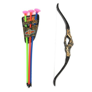 Bow And Arrow Bow And Arrow For Kids Plastic Bow Arrow Archery Simulation Bronze Sucker Bow Arrow Suit For Children Kids Game Toy by BiStore Bow Arrows Compound Bow Arrows