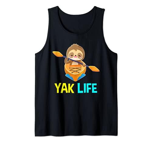 Yak Life Perezoso Kayak Equipo de Remolque Kayak Camiseta sin Mangas
