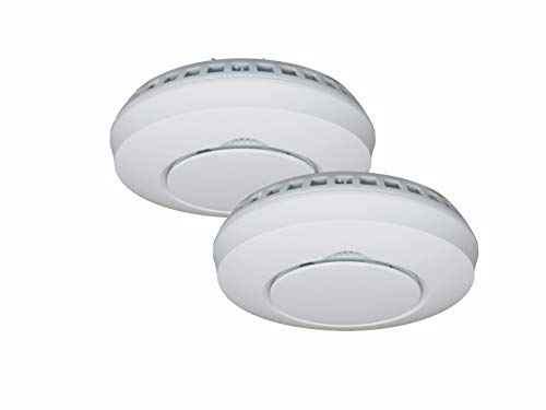 ELRO 2er Set Funkrauchmelder mit Magnethalter & Stummschaltfunktion, verlinkbar mit Connects Smart Home System von ELRO und anderen vernetzbaren Warnmeldern