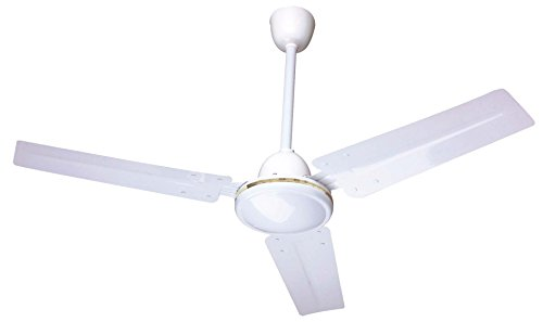 Ardes AR5A90 Ventilador de techo, 3 velocidades, 3 aspas metálicas, mando a pared, blanco, diámetro 90 cm