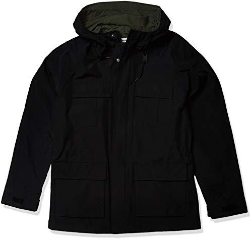 Amazon Essentials Lightweight Mountain Parka Jacket parkas, schwarz, L