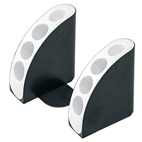 コモライフ ペン立て付きブックエンド 収納 文具 整理 本棚 机 卓上 小物入れ 便利 オシャレ390044