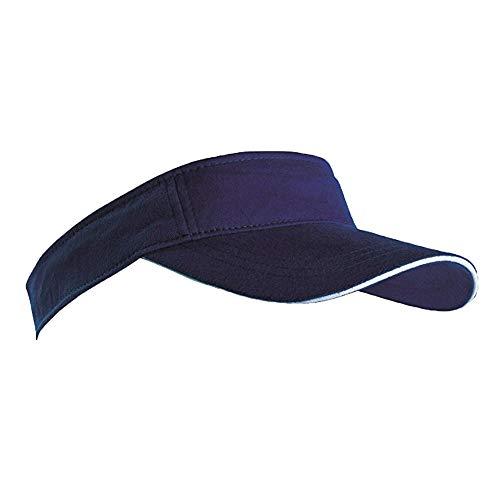 MB Caps Sport-Sonnenblende Sandwich Peak Golf Tennis Cap Einheitsgröße Marineblau/Weiß