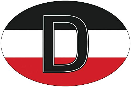 Aufkleber/Sticker - Deutschland D für PKW oder LKW (Sticker-Set 2 Stück)