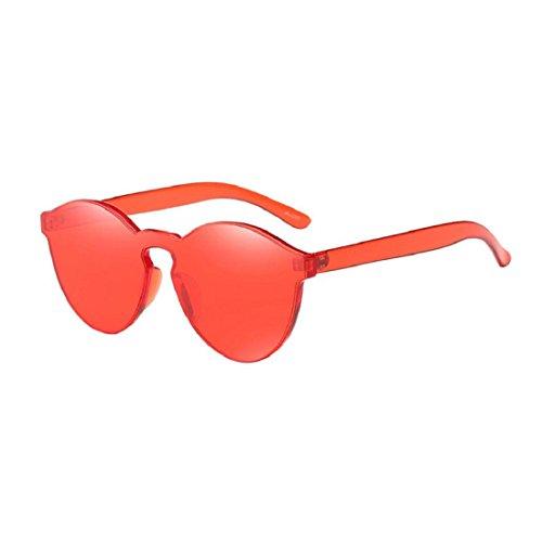 Culater® Lunettes de soleil de Mode de Femmes de chat de Couleurs d'oeil (Rouge)