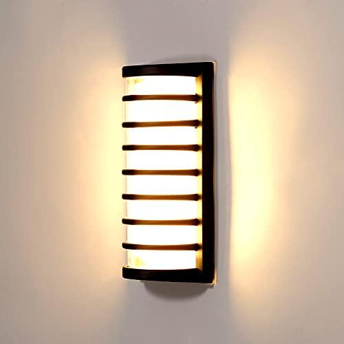 Anonry Applique da Parete Esterno, 10W 1100LM Lampade LED da Esterno Moderne Luce Impermeabile IP65 3000K Bianco Caldo, Applique LED Muro per Giardino Terrazza Corridoio Scale Soggiorno