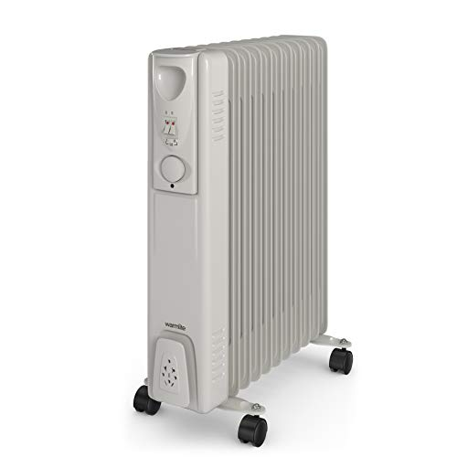 Warmlite Portable Electric Oil Filled Radiator, 3...