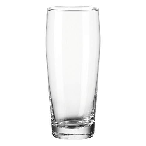 montana willi Trink-Gläser 6er Set, spülmaschinengeeignete Wasser-Gläser, Trink-Becher aus Glas, Bier-Gläser, Longdrink-Set, groß, 600 ml, 010418