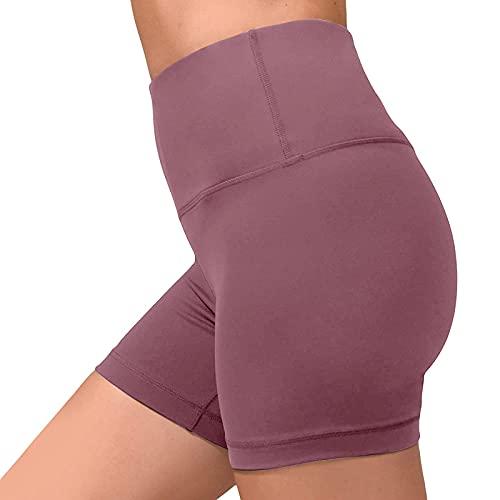Briskorry Kurze Yogahose Damen, High Waist Yoga Sport Hose Leggings für Sommer, Fitnesshose Radlerhose Jogginghose Trainingshose für Sport Gym Bike Alltag