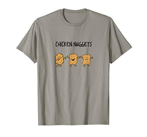 Chicken Nuggets Cartoon Junk Food T-Shirt