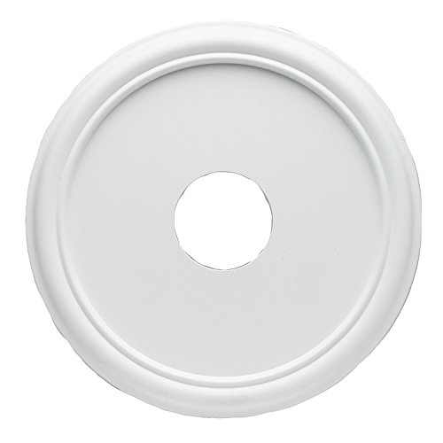 Westinghouse 7773200 16-Inch Smooth White Finish Ceiling Medallion (2 Pack)
