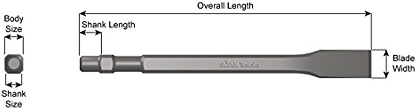 product image for Ajax Tools 386 Flat Chisel, 7 inch Length, 3/4 inch Blade Width