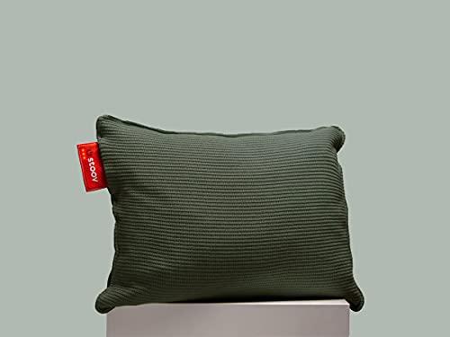 Stoov Ploov 45x60 | Knitted Heizkissen Army Green