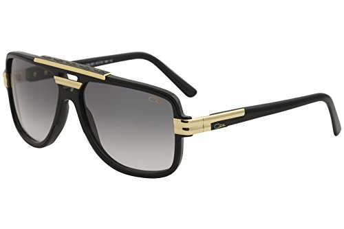 Cazal 8037 Sonnenbrille 001 Black Gold/Grey Gradient Lens 61MM