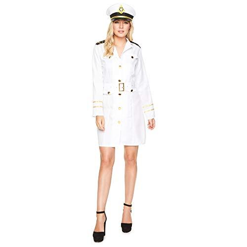 Karnival- Navy Officer Girl Costume, Filles, 81059, Blanc, L