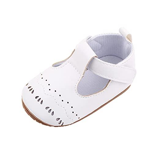 Zapatos Bebe Primeros Pasos Zapatos niño bebé Verano Merceditas Sandalia niño Antideslizante Transpirables de Cuero PU Zapatos Princesa niñas Precioso Regalos Recién Nacido Zapato Feroz para Bebe