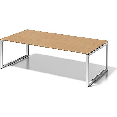 BISLEY Cito Chefarbeitsplatz/Konferenztisch, 740 mm höhenfixes O, H 19 x B 2400 x T 1200 mm, Metall, Bc396 Dekor Buche, Gestell Verkehrsweiß, 120 x...