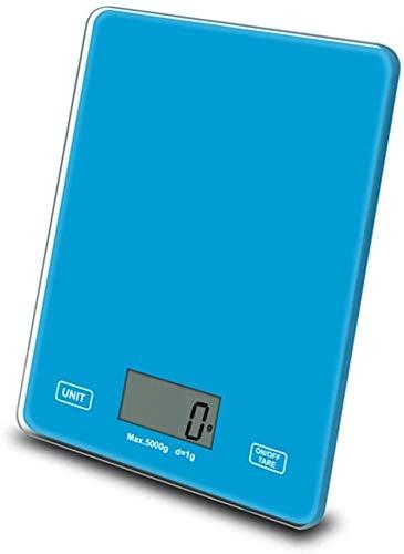 Scales Smart 1g / 5kg Balanzas de Cocina Smart Digital Food función Tare Función LCD Pantalla Profesional Precisión de Alta precisión Escala de Vidrio Templado para el hogar ZSMFCD