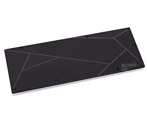 MiaoMiao Metal Backplate Use FIT Fay para AMD RX5700XT Bloqueo/para su Solo Soporte BYKSKI/para la edición de Referencia Compatible 5700 / 5700XT Bloque de 3 mm de Grosor Service (Color : Black)