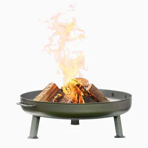 Czaja Feuerschalen® Feuerschale Bonn Ø 80 cm - mit Wasserablaufbohrung - Feuerschalen für den Garten, Terrasse und Balkon, Feuertonne und Feuerkorb