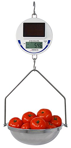 Detecto scs30 Digital Solar Hanging Scale, 30 lb. / 15 kg Capacity, Includes Pan and Bow