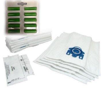 Miele GN Staubsaugerbeutel X 10& Filter & Lufterfrischer–Microfaser Staubbeutel mit Kunststoff Tasche Rahmen–Auspuff Filter geeignet für S2110,,, S300i, S400, S400I, S5000, S600Und S800Serie Katze und Hund–von RADVAC