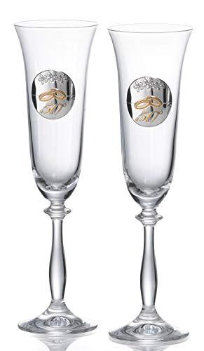 Copas personalizadas para bodas Oro cristal Bohemia