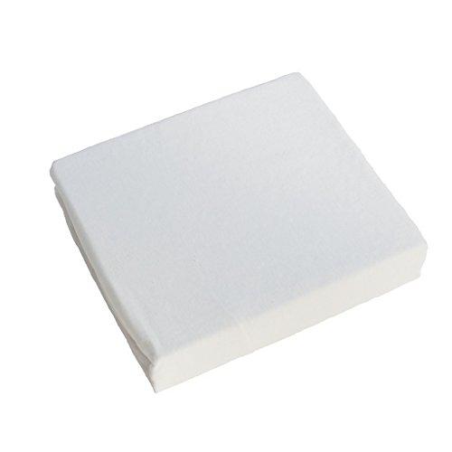 Jersey Spannbetttuch, Passend für 160 x 70 Juniorbett -Matratze - Weiß