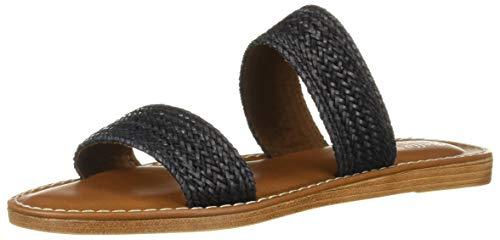 Bella Vita Women's IMO-Italy Slide Sandal Shoe, Black Woven, 9 M US
