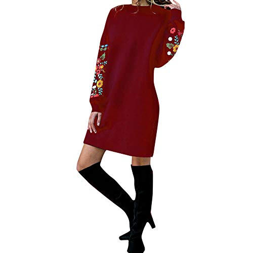 SHOBDW Liquidación Venta Moda Mujer Sexy Nueva Otoño Invierno Sudadera con Capucha Larga Sudadera Jersey Pullover Manga Larga Vestido