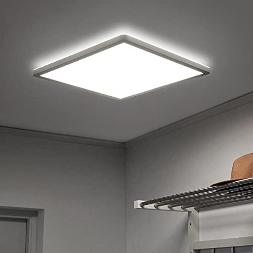 Led Deckenleuchte Flach, Deckenlampe Panel Quadratisch 18W 4000K IP44, 2.5cm Ultra Dünn, für Badezimmer/Flur/Balkon