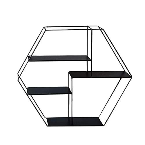 DGDF Estante creativo, estante decorativo para sala de estar, soporte de pared, adecuado para sala de estar, dormitorio, baño, oficina