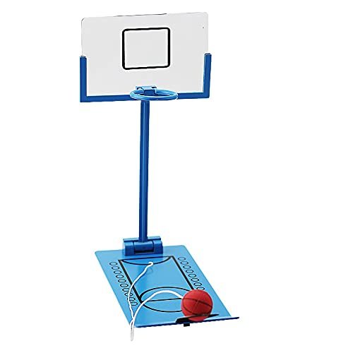 Duyifan Canasta Minibasket,Canasta Baloncesto,Juego de Mesa Baloncesto Aire,Baloncesto Juegos con Pelotas para FanáTicos del Deporte y FanáTicos (Azul)