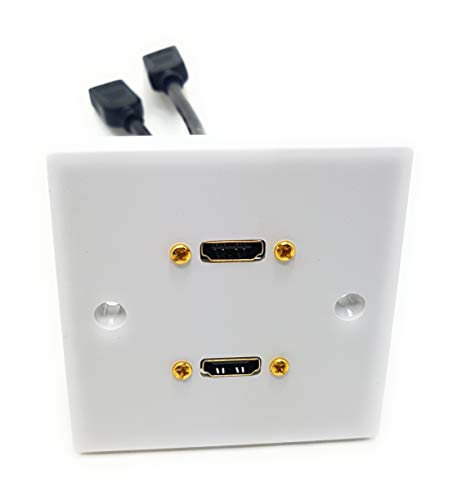 MainCore HDMI Single Faceplate/Wall Socket With HDMI Extension Cable (2 Port, White)