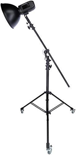 Rollei Profi Galgenstativ - verwendbar als Galgen-Stativ, Lampen-Stativ oder Karera-Stativ - stufenlos verstellbar von 140 cm bis 492 cm