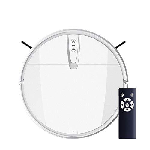 Yi-xir Classic Design Robot de succión Fuerte aspiradora de Aspirador limpiamiento seco de Limpieza en húmedo de Recarga automática de Recarga Automatic Rotation Portable (Color : White, Size : Us)