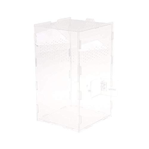 HXHON Reptiel Feeding Box Acryl Reptiel Terrarium Cage Tank voor Gecko Lizard Snake Spider