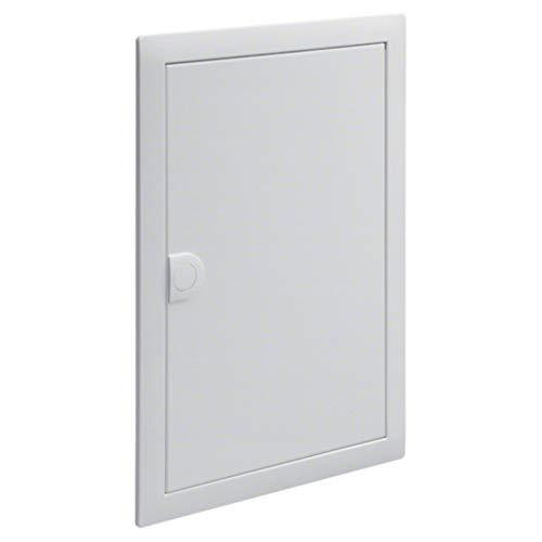 Verdunkelungsrahmen und Tür aus Metall (VZ102N) für VU/VH-Gehäuse 2-reihig 24 Module RAL 9010
