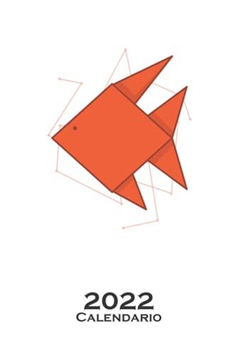 Peces de origami en forma de papel Calendario 2022: Calendario anual para Abanicos japoneses de papel plegado