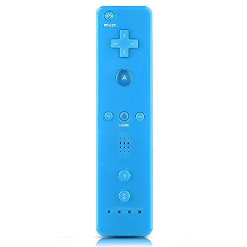 Tosuny für Nintendo WiiU/Wii Console-Fernbedienung, Gamepad mit Gamegriff und analogem Joystick + Hülle für Wii U/Wii Console(Blau)