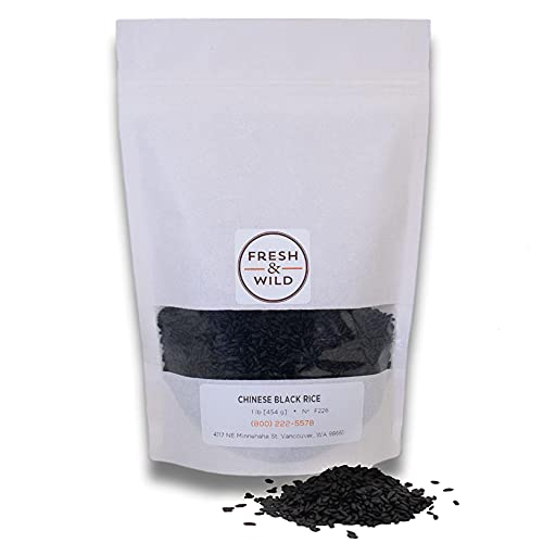 Fresh & Wild   Medium-Grain Chinese Black Rice   Organic, Healthy, Gluten-Free, Grains   1 lb   Chef-inspired Ingredients