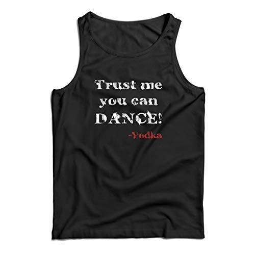 lepni.me Camisetas de Tirantes para Hombre Confía en mí Que Puedes Regalo de Baile para los Amantes del Vodka (Small Negro Multicolor)