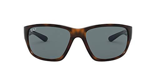 Ray-Ban RB4300 Square Sunglasses, Havana/Polarized Blue, 63 mm