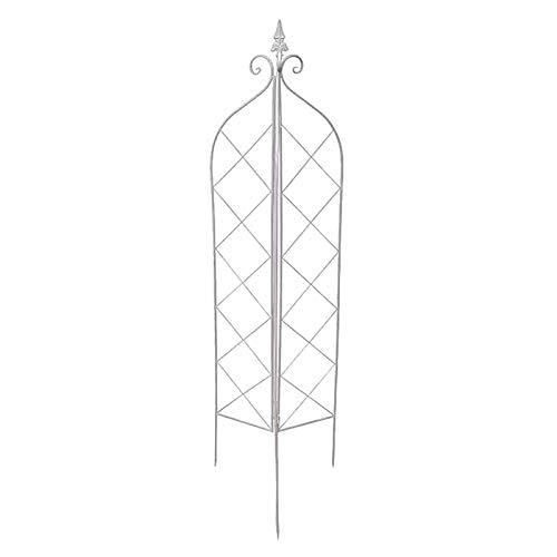 Garten Obelisk, Garten Kletterpflanzen Metall Trellis Zaun-Panel, für Kletterrose Rebe Blume Gurke Clematis