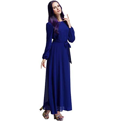 RISTHY Lange Kleider Frauen Chiffon Kleider Einfarbig Damen Kleidung Türkei Elegant Square Neck Maxi Cocktailkleider Arabische Islamische Moslemische Kleidung Kaftan Dubai