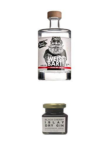 Weissbart Schwarzwald Gin 0,5 Liter + Islay Dry Gin Black Cherry Sauerkirsche Marmelade 150 Gramm